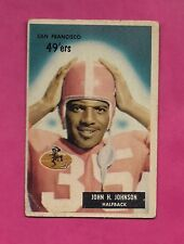 1955 BOWMAN # 42 SAN FRANCISCO JOHN JOHNSON ROOKIE GOOD CARD (INV# A4948)
