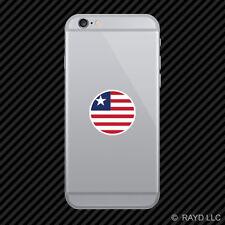Round Liberian Flag Cell Phone Sticker Mobile Liberia LBR LR
