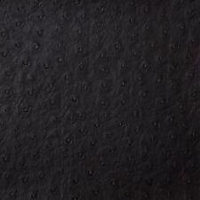 Kravet Faux Leather Ostrich Skin Vinyl Upholstery Fabric- Senna/Black (8) 6.0 yd