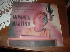 """MIRANDA MARTINO  SANREMO'59 """"LA VITA MI HA DATO SOLO TE- COSI' COSI' """"  ITALY'59"""