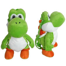 "YOSHI PLUSH BACKPACK! GREEN PET SUPER MARIO BROS STUFFED TOY DOLL BAG 18-19"" NWT"