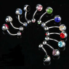 Wholesale 12pcs/Set Surgical Steel Navel Belly Button Ring Body Piercing Fashion