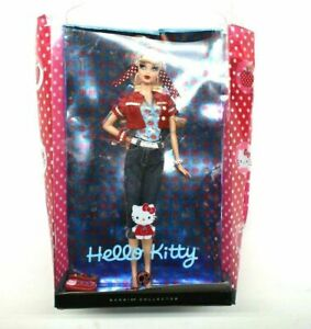 Rare Hello Kitty Barbie by Sanrio 2008 Collectible Damaged Packaging New Barbie