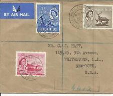 Mauritius SG#300,#303,#293 Port Louis 19/JA/55 Official Envelope Registered