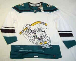 ANAHEIM DUCKS size 44 XSmall Reverse Retro ADIDAS NHL authentic jersey Wild Wing