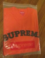 Supreme Plaid Applique S/S Top Size Medium Orange FW20 Supreme New York FW20KN86