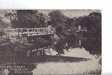 """Vintage Post Card - BELVIDERE Illinois """"Twin Bridges"""" KISHWAUKEE - Unused ca1910"""
