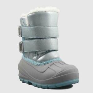 New Cat & Jack Lev Winter Boots Light Blue Toddler Girls Shoe Size 6