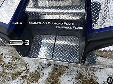 Ezgo Marathon Golf Cart  Polished Aluminum Diamond Plate Bagwell floor cover