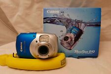 Canon PowerShot D10 12.1MP Digital Camera - Silver blue