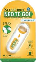 Neosporin Pain Relief Neo to Go! First Aid Antiseptic Pain Relieving Spray