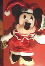 Disney Tokyo Disneyland Merry Christmas Minnie Mouse Mini Bean Bag Jester Bells