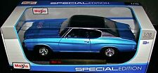 1971 CHEVELLE SS 454 BLUE 1:18 SCALE DIECAST METAL SPECIAL EDITION MAISTO NEW