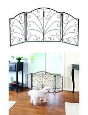Folding Pet Dog Gate Fence Playpen 3 Panel Free Standing Indoor Safety Barrier