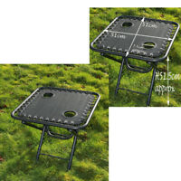TEXTOLINE GARDEN OUTDOOR PORTABLE FOLDING TABLE TWO BUILT IN CUP DRINK HOLDERS