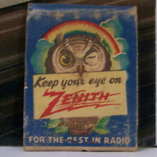 Vintage Matchbook Z2 New Port Pennsylvania Keep Your Eye On Zenith Owl Radio