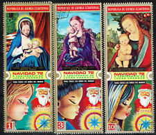 Equatorial Guinea Art Famous Italian Paintings Madonna stamps 1972