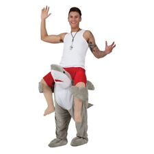 Shark Carry Me Costume Jaws Mascot Deluxe Adults Fancy Dress Stag Outfit
