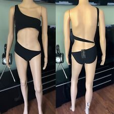 Tom Ford for Gucci S/S 2000 Cutout One Shoulder Bodysuit Swimsuit S