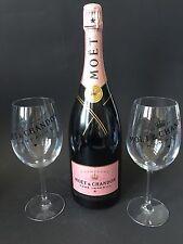 Moet Chandon Imperial Rose Champagner Flasche 1,5l Mag 12% Vol. + 2 Moët Gläser