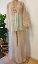💋 Vintage Glydons Hollywood 3 piece lingerie/peignoir set - Aqua and dusty pink