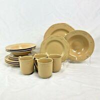 16 PIECE SET THOMSON POTTERY SICILY DINNERWARE DINNER SALAD PLATE BOWL MUG
