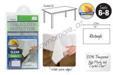 Transparent Plastic Tablecloth Protector PVC Clear Dining Picnic Bar Table Cloth