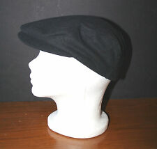 Men's Wool Cabbie Newsboy Cap Black S/M Mint 65% Wool