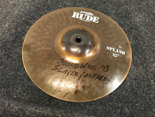 """Paiste Rude 10"""" Splash Cymbal Used with Slayer and Anthrax Signed"""
