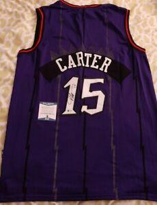 Vince Carter signed autographed Toronto Raptors jersey Beckett BAS COA #U73710