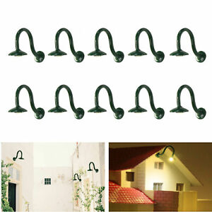 10pcs Model Trains H0 Scale 1:87 Hanging Lamps Wall Lamps Goose Neck Warm White