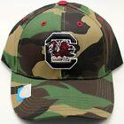 Captivating Headwear South Carolina Gamecocks Woodland Camo Adjustable Hat