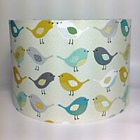 Bird Light Shade Fryetts Scandi Birds Fabric Ceiling or Lamp Shade