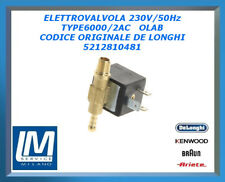 ELETTROVALVOLA 230V/50Hz TYPE6000/2AC OLAB 5212810481 DE LONGHI ORIGINALE