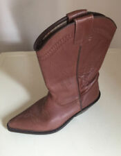 Topshop 100% Leather Cuban Heel Boots for Women