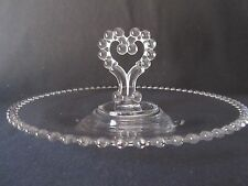 "Imperial Candlewick 400/68D 11 3/4"" Pastry Tray Heart Center Handle"