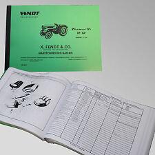 Fendt Ersatzteilliste für Farmer 1Z / 1E / 1D Traktor Schlepper 131001