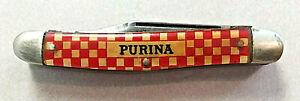VINTAGE KUTMASTER UTICA NY PURINA 3 BLADE POCKETKNIFE