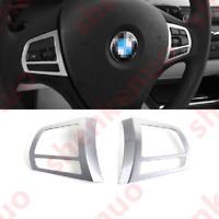 Chrome Frame Steering wheel Panel Cover Trim For BMW 3 Series F30 320i 16-2017
