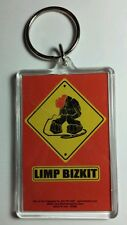 AS-IS LIMP BIZKIT CARTOON YELLOW SIGN MICROPHONE  BAND KEY CHAIN KEYCHAIN