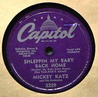 Mickey Katz Shleppin My Baby Back Home Comedy Jewish 78 PatchaMe Yiddish Novelty