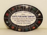 Vintage Celluloid Advertising Pocket Mirror Curtis Publishing Company