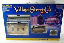 BACHMANN VILLAGE STREET TRAIN CAR CHRISTMAS SET ON 30 SCALE MIB