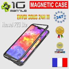 Coque Magnétique HUAWEI P20 LITE + Dos Verre Bumper Metal Anti-Chocs Protection