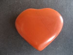Natural Red Jasper Love Heart Valentine