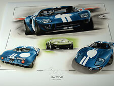 FORD GT40 David Piper voiture sebring 12 H 1968 Nurburgring Guards 1000 km