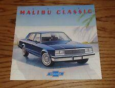 Original 1982 Chevrolet Malibu Classic Sales Brochure 82 Chevy