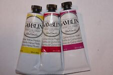 3 Gamblin Oil Paint-2 QUINACRIDONE's & HANSA YELLOW M-37ml-Series 3-TRANSPARENT