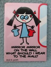 David & Goliath Mirror Mirror On The Wall Magnet, Souvenir, Travel, Funny