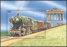 Lesotho 1996 Steam Engines/Trains/Rail/Railways/Locomotives/Transport m/s (s458)